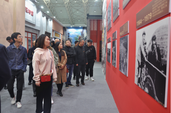 建设集团参guan陕西省庆祝中hua人民共和guo成立70周年成就展